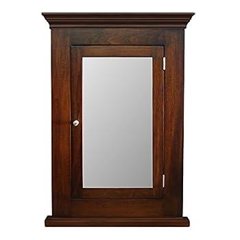 D&E Wood Craft Cabinets Dark Walnut Recessed Medicine Cabinet & Mirror/Michelle