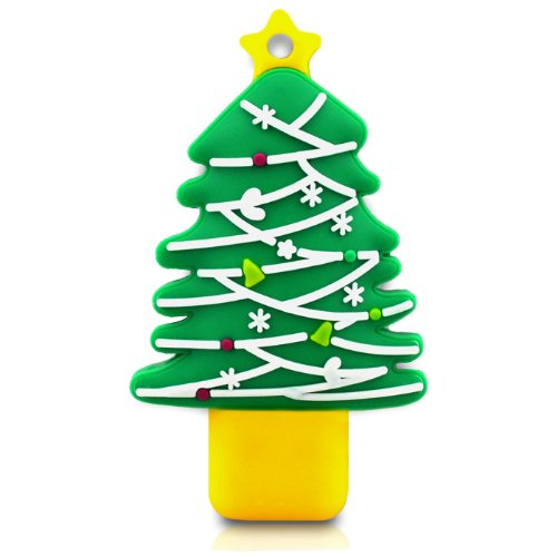 818-TEch no16300010004 Hi-Speed 2.0 USB PenDrive 4GB Albero di Natale stella verde