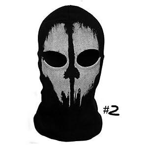 "Angelo Caro? Tour de Cou Masque Cagoule ""Ghost Tete de Mort"" - Couleur Call Of Duty Modern Warfare - Airsoft Paintball Moto Outdoor Couleur 2"