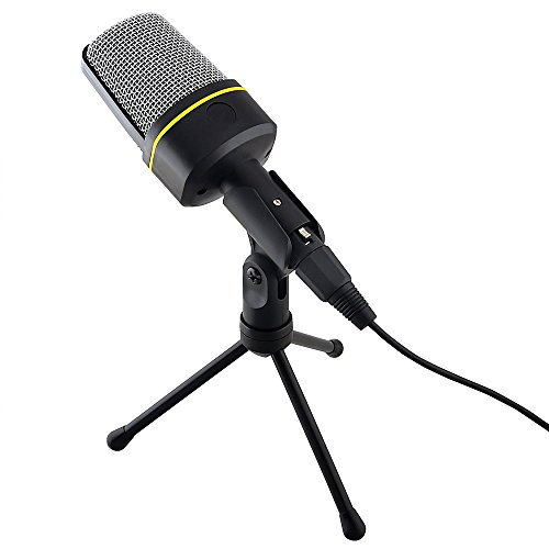Condenser Recording Microphone, Megadream 3.5mm Stereo Audio Microphone Mic for PC Laptop Gaming Skype MSN with Tripod Stand - Perfect Voice Recorder, Noise Cancellation (Gaming Software compare prices)