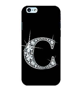 Alphabet C 3D Hard Polycarbonate Designer Back Case Cover for Apple iPhone 6 Plus :: Apple iPhone 6+