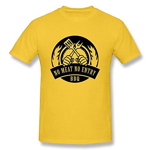 Lht Men'S No Meat No Entry Cotton T-Shirt Xl Gold