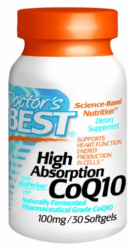 Doctor'S Best High Absorption Coq10 (100 Mg), Softgel Capsules, 30-Count
