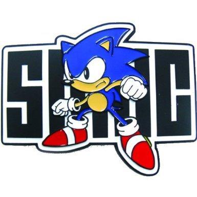 Sega Sonic Full Body Logo Belt Buckle (Blue & Black)