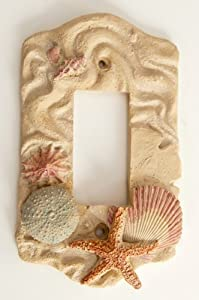 Amazon Com Switch Plate Nautical Decor Seashell Gfi