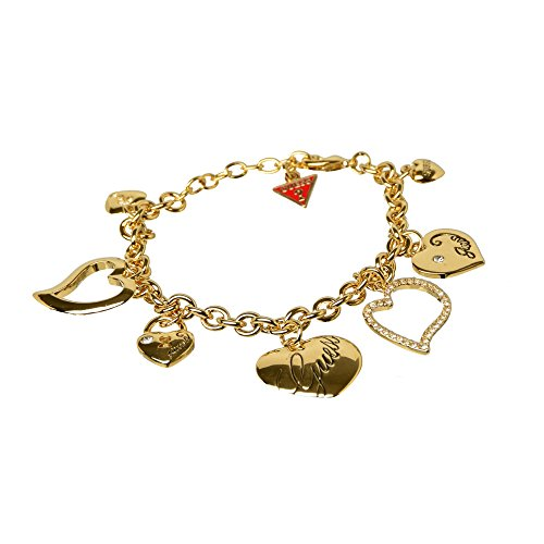 ladies-gold-tone-heart-charm-bracelet-by-guess