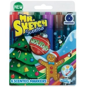 Mr. Sketch Scented Holiday Markers (6 Markers) - 1
