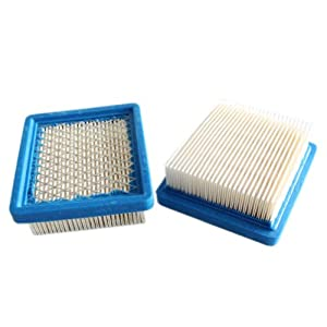 New Pack of 2 Air Filter fit for Tecumseh 36046 740061 and Fits 4 & 5.5 Hp Engines Oh95, Oh195, Ohh50, Ohh55, Ohh60, Ohh65, Vlv50, Vlv55, Vlv60, Vlv66 and Vlv126 Replace Stens 100-450 by ZY