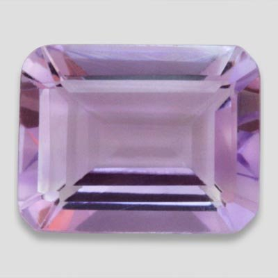 Purple Amethyst color 1.45 carat Emerald Cut 8 X 6 mm Loose Gemstone SI Clarity