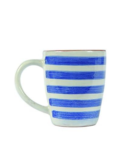 Canvas Home Spongeware 12-Oz. Mug, Blue/White