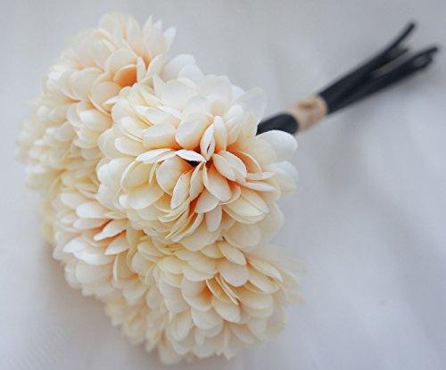 4th anniversary: Silk Chrysanthemum Ball Bouquet