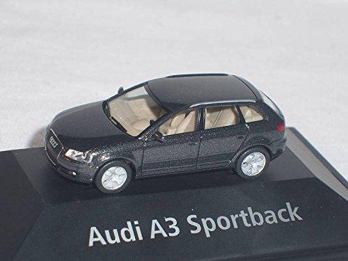 Audi-A3-A-3-Sportback-Schwarz-Ho-H0-187-Herpa-Modellauto-Modell-Auto-SondeRangebot