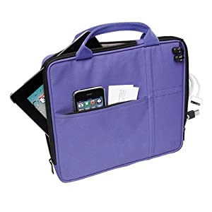 V7 Sleeve with pocket for all iPads and tablet PC's up to 9.7, Purple (TA20PUR-1N)