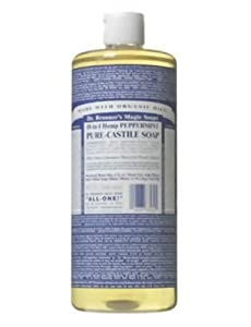 Dr. Bronner's Magic Soaps Pure-Castile Soap, 18-in-1 Hemp Peppermint, 32-Ounce Bottles (Pack of 2)