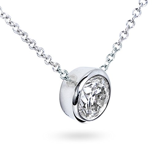 pendentif solitaire diamant 3 4 carats en or blanc 14 k bijouterie dulcinea. Black Bedroom Furniture Sets. Home Design Ideas