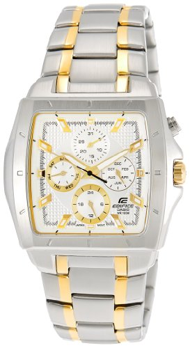 Casio Edifice Chronograph Silver Dial Men's Watch - EF-329SG-7AVDF (ED381)