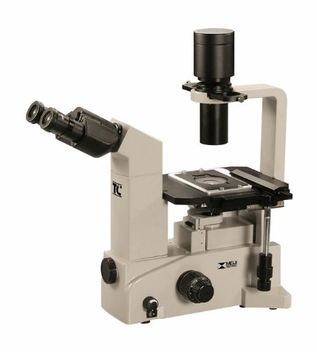 Meiji Inverted Microscope, Phase Contrast, 115 Vac