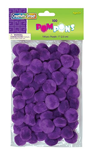 "Creativity Street Pom Pons 100-Piece x 1"" Purple"