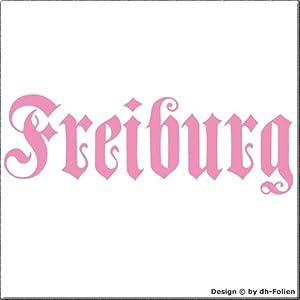 cartattoo4you AK-01584 | FREIBURG - Fraktur / Altdeutsche Schrift | Autoaufkleber Aufkleber FARBE rosa , in 23 weiteren Farben erhältlich , glänzend 17 x 5 cm in PREMIUM - Qualität Waschstrassenfest VERSANDKOSTENFREI