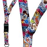 Disney World Parks Mickey & Gang Nerds Pin Trading ID Passholder Lanyard - NEW