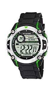Calypso watches - K5577/3 - Montre Garçons - Quartz - Digitale - Alarme/Chronomètre/Eclairage - Bracelet Caoutchouc Noir