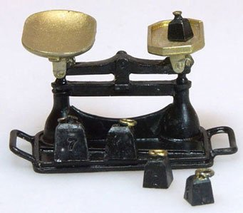 Cheap Black Antique Market Scale w/ Weights (B002Y1XR0I)