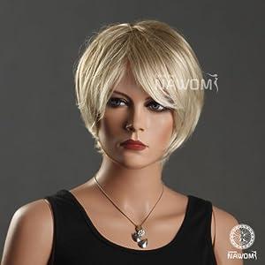 Sexy Büro Damen Kurze Blonde Lockige Perücke für Frauen