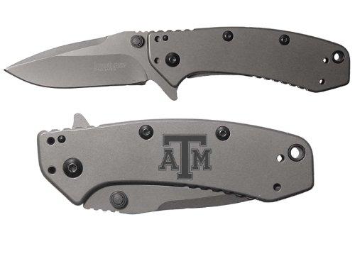 Tx Texas A&M V1 Engraved Kershaw Cryo 1555Ti Folding Speedsafe Pocket Knife By Ndz Performance