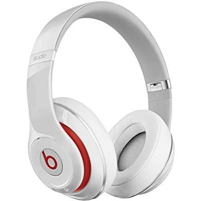 Beats by Dr. Dre Studio Over-Ear Headphones (Second Generation, White) Bundle with Beats USB Cable (Type A To Micro B), Beats 3.5mm Jack Cable, and Custom Designed Zorro Sounds Cleaning Cloth