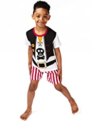 Pure Cotton Pirate Short Pyjamas
