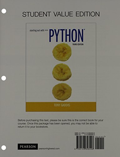 Starting Out With Python - Isbn:9780133582734 - image 5