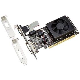 玄人志向 グラフィックボード nVIDIA GeForce GT520 1GB LowProfile PCI-E RGB DVI HDMI 空冷FAN 1スロット GF-GT520-LE1GH