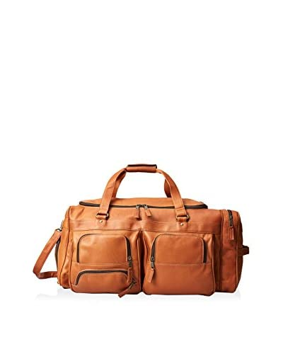LATICO Men's Deluxe Travel Duffel Bag, Natural