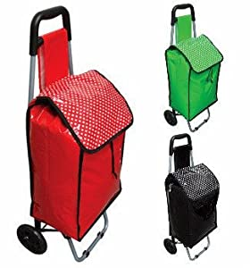 Lightweight Folding Shopping Trolley Wheeled Holdall by Country Club