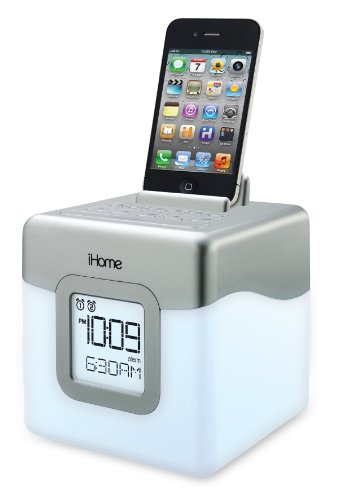iHome IHM28W2 Color Changing Alarm Clock FM Radio with USB Charging