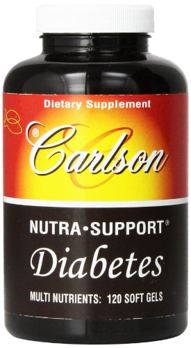 Carlson Nutra-Support Diabetes, 120 Softgels