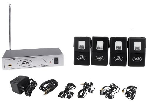 Peavey Als 72.9 Mhz Assisted Listening System Transmitter And Four Receivers With Ear Buds