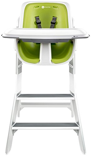 Great Deal! 4Moms High Chair, White/Green