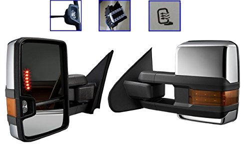 Find Bargain 07-13 Silverado Towing Power Heated Chrome Mirrors LED Signal & Clearance Lamps