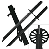 BladesUSA HK-6183 Twin Ninja Swords, Two-Piece Set, Black,...