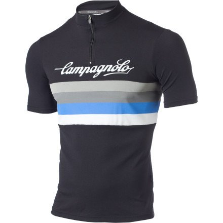 Image of Campagnolo Sportswear Allegro High Neck Logo Jersey - Short-Sleeve - Men's (B007R2JTDS)
