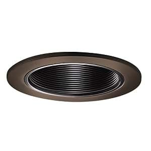 trim coilex baffle tuscan bronze with black baffle recessed light