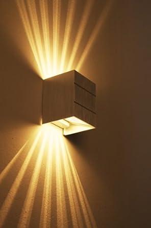 wandleuchte mit lichtauslass oben unten beleuchtung. Black Bedroom Furniture Sets. Home Design Ideas