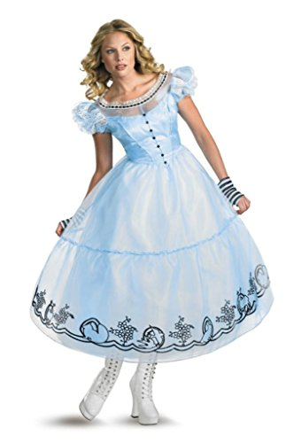 Disguise Womens Disney Deluxe Alice In Wonderland Movie Halloween Themed Costume