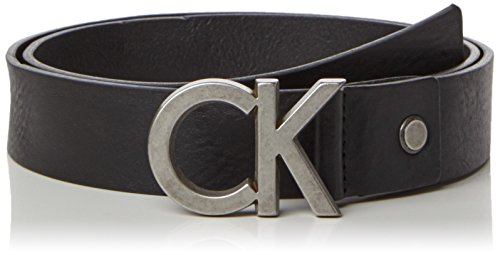 Calvin Klein Jeans CK Adj. Buckle Belt, Cintura Uomo, Nero (001), 85 cm