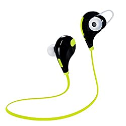CHKOKKO QY7 Mini Lightweight Wireless Stereo earphone Sports/Running and Gym Exercise Bluetooth Earbuds Headphones Headsets Microphone GREEN