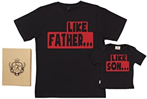 Spoilt Rotten - Like Father Like Son - Organic Dad & Son/Daughter T-Shirts por Spoilt Rotten en Bebe Hogar