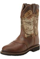 Justin Original Work Boots Men's Stampede  Camo Waterproof WK Work Boot