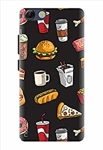 Noise Designer Printed Case / Cover for Panasonic P55 Novo / Patterns & Ethnic / Food Frenzy