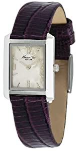 Kenneth Cole Kc2562 Ladies Purple Leather Strap Watch